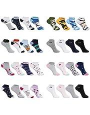 SG-WEAR 12 pares de calcetines sneaker socks deportivos para niños y niñas. Calcetines cortos para niños con un alto porcentaje de algodón/tallas 23-26, 27-30, 31-34, 35-38