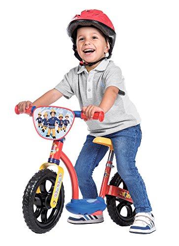 Smoby - 770108 - Sam le Pompier - Draisienne Confort Enfant avec Roues Silencieuses - Siège Réglable - Béquille Intégrée