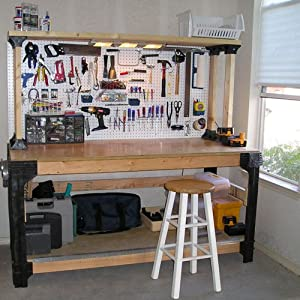 Hopkins 90164 2x4basics Workbench and Shelving Storage System