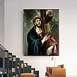 Berühmte Leinwand Malerei von El Greco Wandkunst Poster