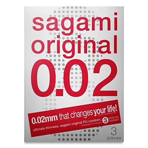 Sagami Original 002 latexfreie Condome, ultradünne japanische Kondome (Japan Import) - hypoallergen - hygienisch verpackt, 1 x 3 Stück