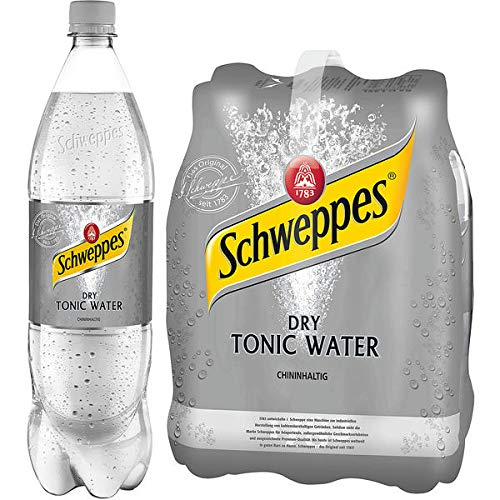 DPG Schweppes Dry Tonic Water 6 x 1,25l (inkl. 1,50 Euro Pfand)