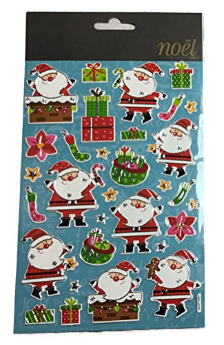Susis Fashion Shop Sticker mit Weihnachtsmotiven Bogen 21×14 cm (Weihnachtsmann)