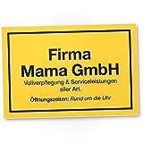 DankeDir! Firma Mama GmbH Kunststoff Schild - Geschenkidee Geburtstagsgeschenk Mama Wanddeko Wohnzimmer Schlafzimmer süßes Geschenk Mutter - kleine Aufmerksamkeit Deko das Haus