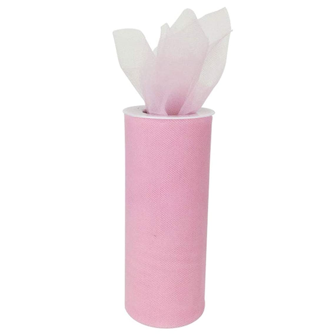 Just Artifacts - Tulle Fabric Roll - 6in width/25yrd Length - Baby Pink