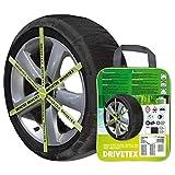 DRIVETEX73 - Kit 2 fundas-cadenas textiles turismos DRIVETEX hielo/nieve talla 73 y 2 guantes para el montaje.