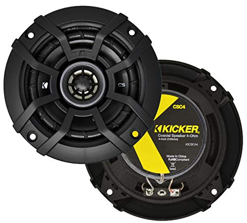 Price comparison product image Kicker 43CSC44 CSC4 4-Inch Coaxial Speakers - 4-Ohm