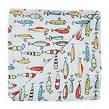 Mud Pie Kids Fishing Muslin Swaddle Blanket, Multi (12140058)
