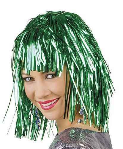 Folienperücke perruque de carnaval vert