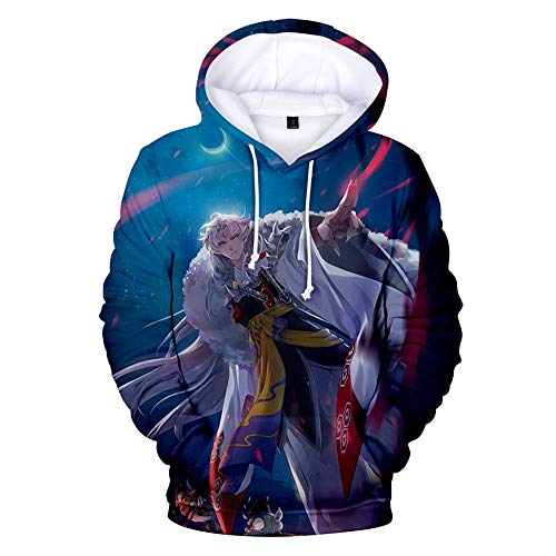 Siawasey Anime Inuyasha sudadera con capucha Sesshomaru chaqueta sudadera con capucha Pullovers sudadera Fleeces disfraz - Multicolor - XX-Large