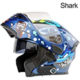 Bluetooth Integrated Modular Flip up Full Face Motorcycle Helmet Sun Shield Mp3...