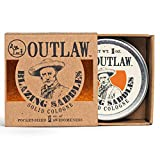 Outlaw Blazing Saddles - The Sexiest Solid Cologne Ever - Leather, Gunpowder, Sandalwood and Sage in a Pocket-Sized Tin - Men's or Women's Fragrance - 1 oz.