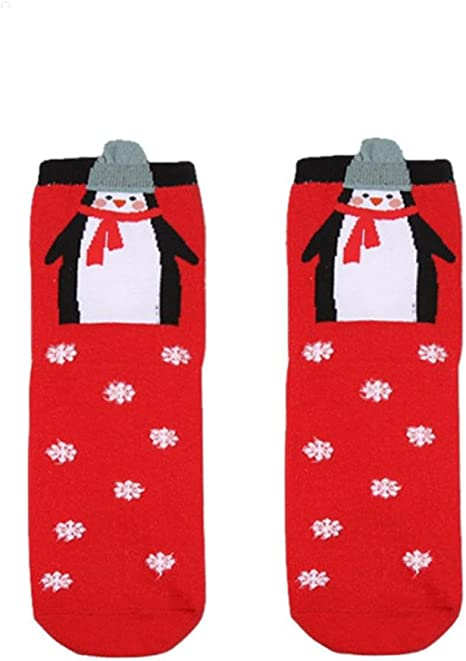 Unisex Women Men Ankle Socks Christmas Comfortable Stripe Cotton Sock Short Sock