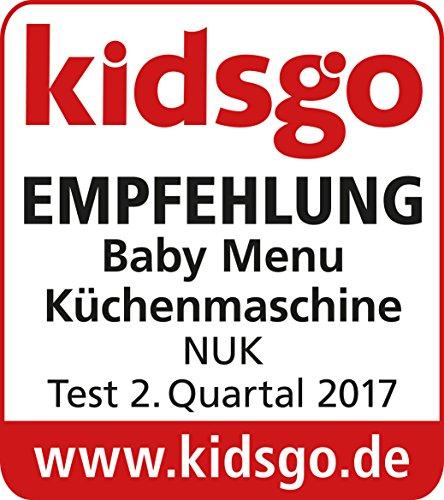 NUK 10256304 Baby Menu 4 in 1 Küchenmaschine, 900 ml Fassungsvolumen, Inkl. Rezeptheft mit Ernährungsplan - 8