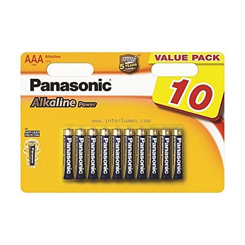 Panasonic Alkaline Power Ministilo - Confezione da 10 Pezzi