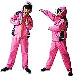 (リッチェ) Ricce 子供用 レインスーツ 上下セット 男女兼用 反射材 収納ポーチ 付き カッパ 雨具