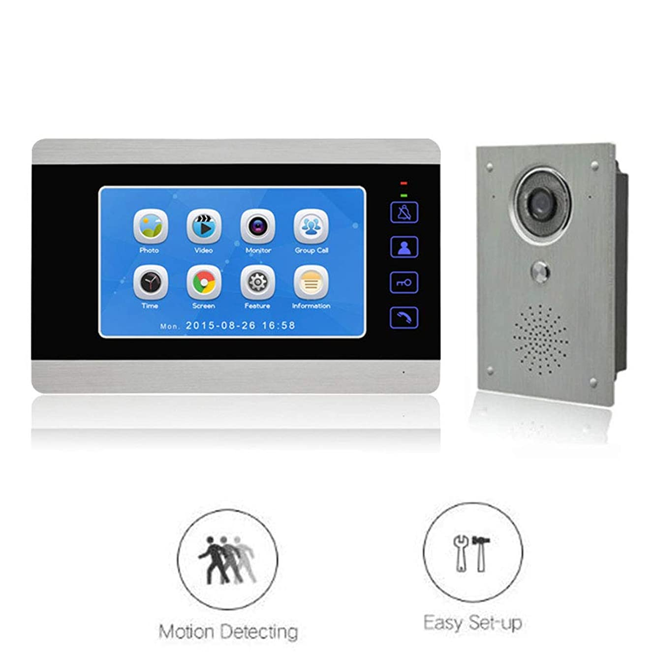 Video Doorphone Wired Hd Camera Video Doorbell 7-inch Color Monitor Home Security System Mobile Monitoring Infrared Night Vision Intercom System