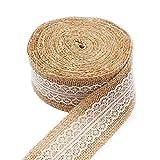 CCSimple 10M x 5cm Iuta Naturale Craft Ribbon Nastro con...