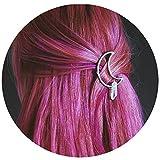 Crystal Moon Hair Clip Bin Barrette for Long Hair Stick Slide Irish Hair Accessories (moon1)