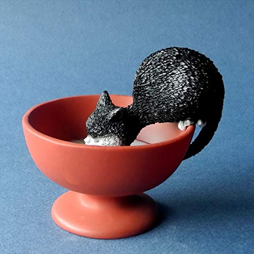 Cat Drinking Ornament by Dubout