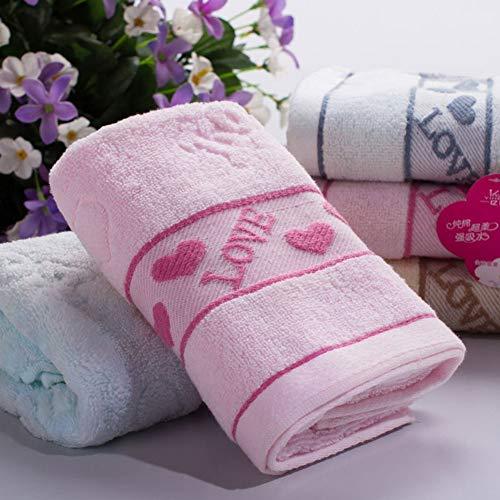 YongFeng Jacquard-Handtuch, Bedarfsartikel, Hochzeitsgeschenk, Werbung, Werbeartikel, Baumwollhandtücher (Farbe : Rosa)
