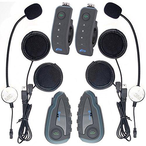 BTI V6 Intercom Bluetooth Gamme Interphone 1200M 6 Riders Motorcycle Helmet Moto Motoneige Bluetooth multi Interphone Casques 6 Riders Intercom Bluetooth Interphone Kits pour Casque moto