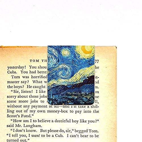 Marcador de Página Magnético - Noite Estrelada de Van Gogh