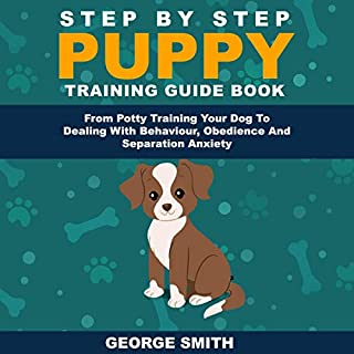 Step by Step Puppy Training Guide Book audiobook cover art