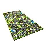 QiKun-Home Tapis de Voiture Enfant pour Petites Voitures Salle de Jeux et Salle de Classe Tapis de Jeu d'activité Centerp Multicolore Tapis de Jeu sûr et Amusant pour garçons et Filles Vert