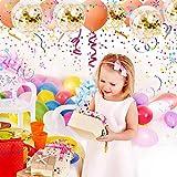 SKYIOL Konfetti Luftballons Gold Helium 50 Stück 30 cm Glitzer Pailletten Latex Ballons für Kinder Mädchen Damen Party Feier Dekoration Hochzeit Geburtstag Valentinstag Brautgeschenke, Set 6 - 3