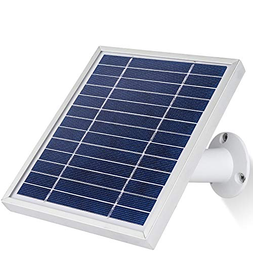 iTODOS Solar Panel Works for Arlo Pro and Arlo Pro 2, 11.8Ft Outdoor Power Charging Cable and Adjustable Mount,Not for Arlo HD ,Arlo Ultra and Arlo Pro3(Silver)