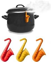 GardenHelper Spill-proof Lid Lifter for Soup black, 2 Kitchen Tools Cooking Lid Stand Heat Resistant Holder Keep The Lid Open Chopsticks Bracket Phone Bracket