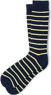 Men's Hipster Designer Classic Stripe Luxury Crew Dress Socks