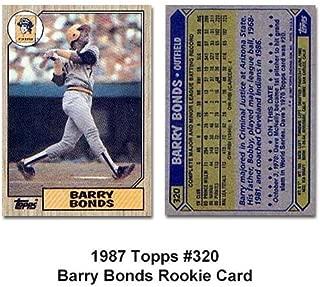 Barry Bonds Rookie 1987 Topps No.320 Baseball Card