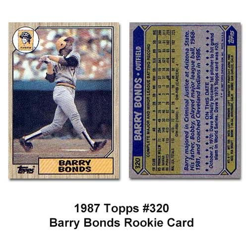 Barry Bonds Rookie Cards Amazoncom