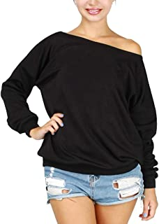 Womens Sexy Off The Shoulder Casual Sweatshirts Pullover Shirts Plus Size