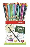 Crayon graphite ergonomique - STABILO EASYgraph - Godet 36 crayons graphite B