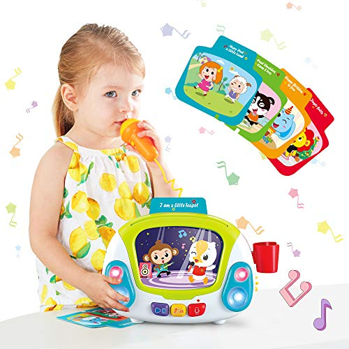 VATOS Music Toys for Kids, Baby Musical Toy Karaoke Music Player with Singing Recoding & Voice Changing Function Early Learning Development Einstein Toy for Toddlers Gift for Girls 2+ Year Old