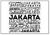 Imán para nevera de Jakarta Word Cloud