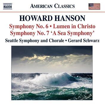 Hanson: Symphonies Nos. 6 & 7 - Lumen in Christo