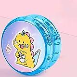 Yoyo luminoso para niños,niño,juguete,niña,plástico profesional,yoyo,yoyo luminoso,yoyo profesional,Yoyo sin respuesta,bola de yoyo profesional,modelado de dibujos animados,yoyo receptivo(2 piezas)