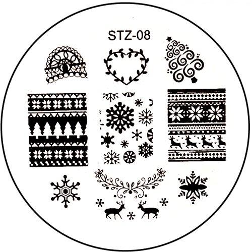 STAMPING SJABLONE # STZ-08 Kerstmis sneeuwvlokken rendier Noors patroon kerstboom