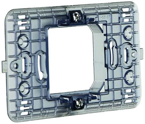 MAGIC bticino 500S/23A - Supporto a 2 posti centrali scatola tonda dotato di graffette