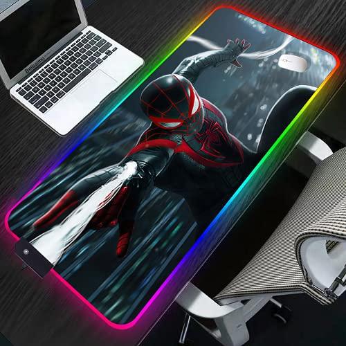 YYXPDD Tapis de souris 3D Spider Man XXL RVB - Grand tapis de souris - Accessoire de souris - Clavier et tapis de souris - Couleur : Anime - 3,700 x 400 x 4 mm