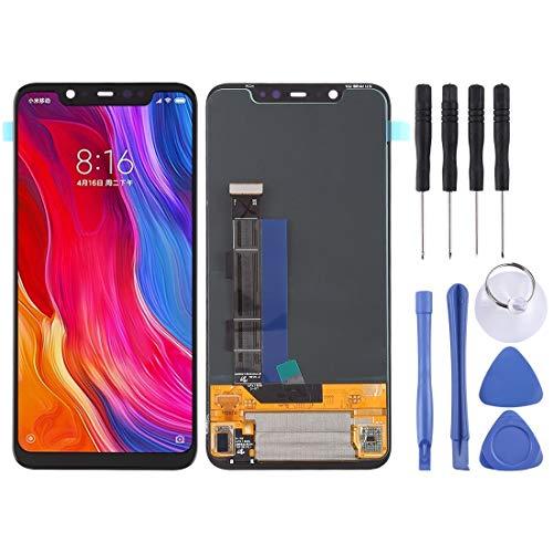 meihansiyun Accesorios de un teléfono Pantalla LCD y Montaje Completo de digitalizador para el Accesorio Xiaomi MI 8 (Color : Black)