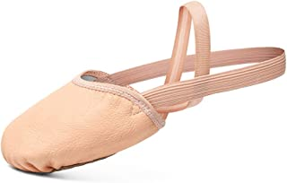 Leather Contemporary Pirouette Dance Half Sole Lyrical Turning Shoes for Ballet Jazz Girls/Women/Boy/Men/Adult
