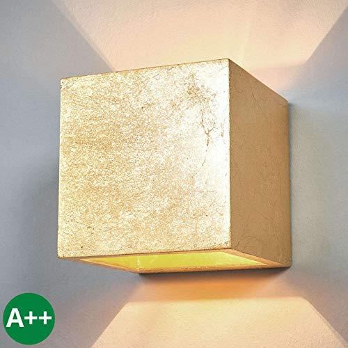 Applique 'Yade' dimmerabile (Moderno) colore Oro, in Argilla ad es. Soggiorno & Sala da pranzo (1 luce, G9, A++) di Lampenwelt | applique