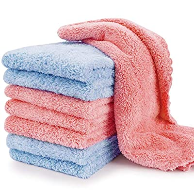 CHOOBY Kitchen Dish Towels 8 Pack, Super Absorb...