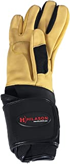 HILASON Bull Riding Gloves Pro Rodeo Genuine Leather Tan Right Hand