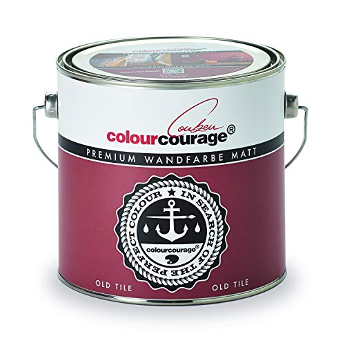 colourcourage L709449L08 Premium matt Old Tile 2,5L bunte Wandfarbe